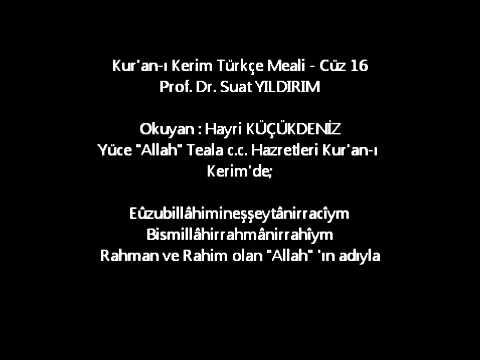 Kur'an-ı Kerim Türkçe Meali - Cüz 16