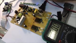 Ремонт монитора LG w1934s. Монитор не включается. Диагностика и ремонт.