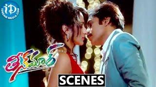 Teen Maar Movie Scenes || Trisha, Pawan Kalyan Both Comedy Phone Chat Scene at Party - IDREAMMOVIES