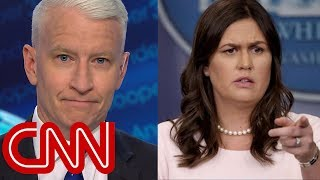 Anderson Cooper mocks Sarah Sanders' 'transparent' legacy - CNN