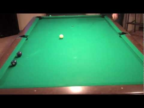 Billiard Lessons - Test your speed control.