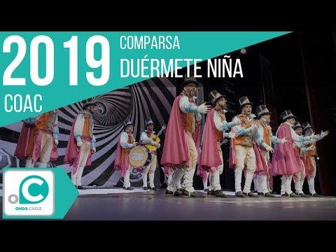 La agrupación Duérmete niña llega al COAC 2019 en la modalidad de Comparsas. Primera actuación de la agrupación para esta modalidad.