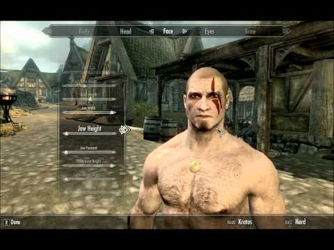 Skyrim - Kratos Character Creation (Nord & Imperial version)