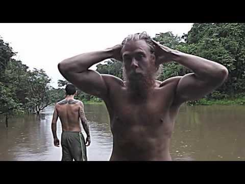 Will Hanigan & CHN swimming with piranas & anacondas in the Amazon Rain Forest .