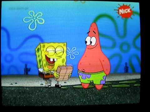 Spongebob i prezent z płatek :D