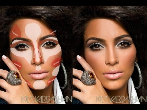How To Highlight and Coutour Face With Makeup,KIM K CONTOURING Tutorial Indian Black Skin Makeup