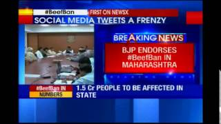 BJP welcomes ban on Cow slaughter in Maharashtra - NEWSXLIVE