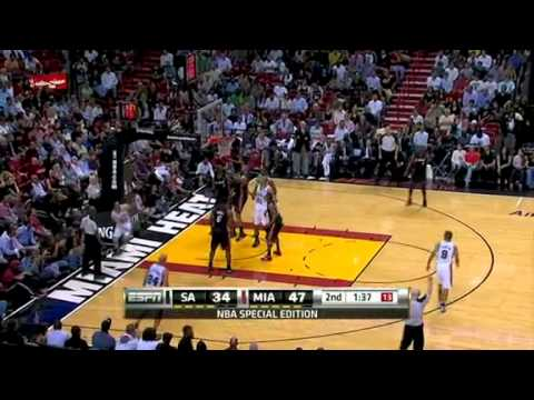 NBA San Antonio Spurs Vs Miami Heat Game Recap 03/14/2011