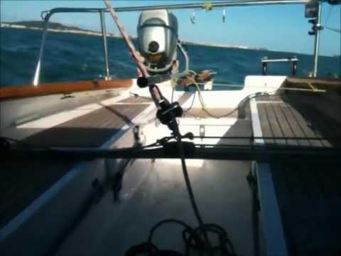 Sortie du voilier corsaire bois Furious le 02 novembre 2012 entre Gruissan et le Cap d'Agde.