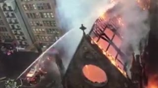 Fire destroys historic church in NYC - CNN