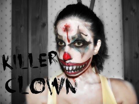 Maquillaje para halloween de payaso 03.   Killer Clown makeup