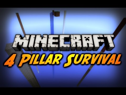 Minecraft: 4 Pillar Survival! w/ CavemanFilms Ep. 1