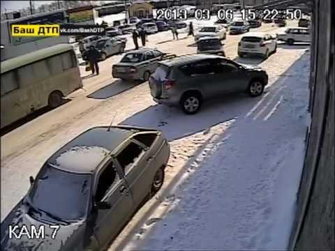 сбил пешеходов Иглино 06.03.2013