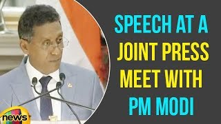 President of Seychelles Danny Faure Speech at a Joint Press Meet with PM Modi | Mango News - MANGONEWS