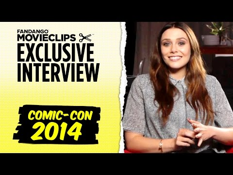 Elizabeth Olsen & Aaron Taylor-Johnson 'Avengers: Age of Ultron' Exclusive Interview: SDCC (2014) HD