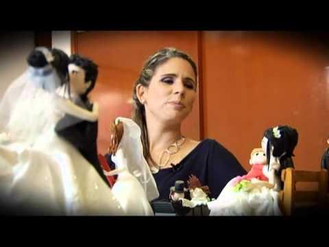 Muñecos de Torta de Monica Goytendia en el programa Boda&Estilo