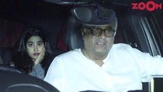 Janhvi Kapoor & Boney Kapoor spotted at Arjun Kapoor's home - ZOOMDEKHO