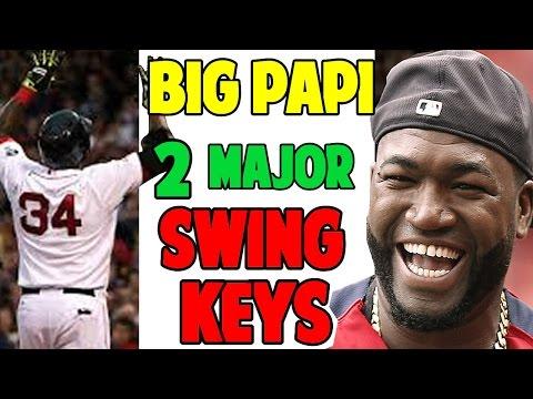 David Ortiz | Two Major Swing Keys (Pro Speed Baseball)