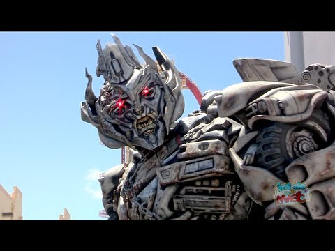 Talking Megatron Transformers character meet-and-greet at Universal Studios Florida