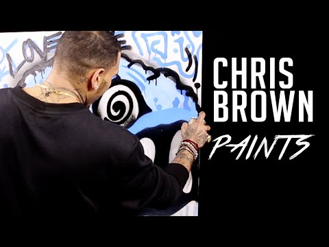 Chris Brown - Chris Brown Spray Paints For Hot 97, Talks About His Art