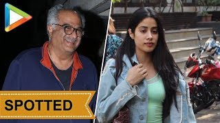 SPOTTED: Janhvi Kapoor & Boney Kapoor at Arjun's house - HUNGAMA