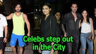 Sunny Leone, Varun Dhawan, Athiya Shetty step out in the City - IANSLIVE