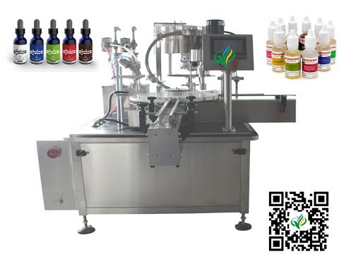 40bpm E cig bottle filling plugging capping machine liquid bottling system флакон разливочная машина