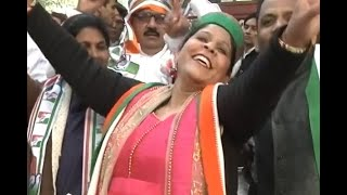 People celebrate with songs and dance before Rahul Gandhi's coronation as Congress Preside - ABPNEWSTV