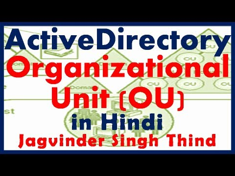 Active Directory in server 2008 Part 9 Active Directory OU in Hindi by JagvinderThind