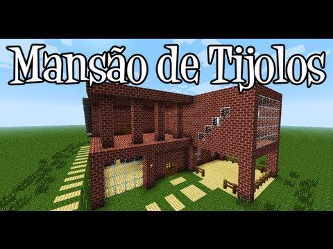 Tutoriais Minecraft: Como Construir uma Mansão de Tijolos