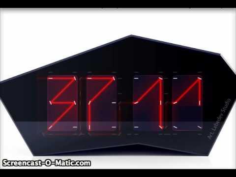 Лазерные часы отображают цифры с помощью одного луча…