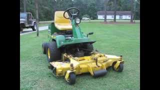 John Deere F725 Front Mower - YouTube
