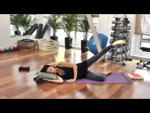 Pre Natal Pilates end of first trimester week 12 - Mat work including kegels.