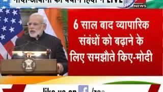PM Modi, US Prez Barack Obama's joint press interaction - ZEENEWS