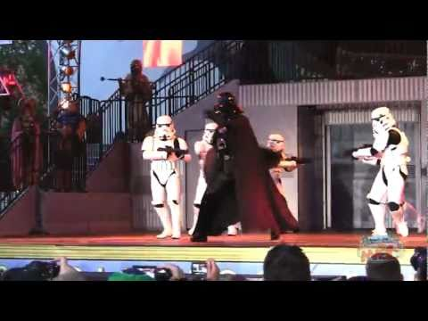 Darth Vader and Stormtroopers dance to Metallica at Disney's Star Wars Weekends 2011