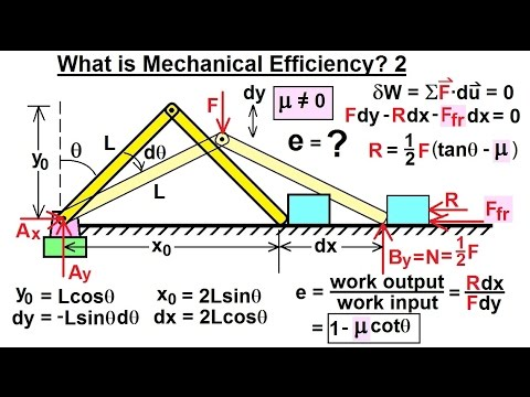 Mechanical Engineering: Ch 13: Virtual Work Applications (9 of 39) What is Mechanical Efficiency? 2