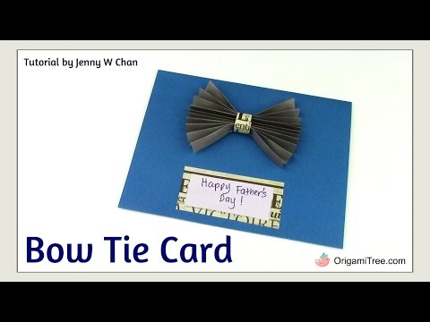 DIY Father's Day Crafts - Handmade Card - BOW TIE CARD - EASY Father's Day Craft