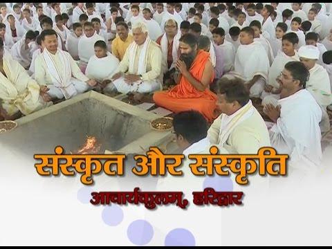 Sanskrut aur Sanskriti | संस्कृत और संस्कृति | Acharyakulam, Haridwar | 19 April 2017 (Part 1)