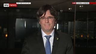 In full: Catalonia's ex-president Carles Puigdemont on the UK's exit from the EU - SKYNEWS