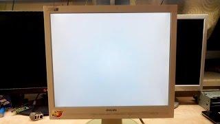 Ремонт монитора Philips 170S. Белый экран. Конденсаторы и не только..