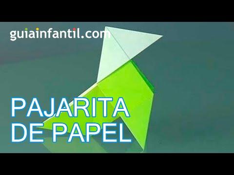 Cómo hacer una pajarita, papiroflexia