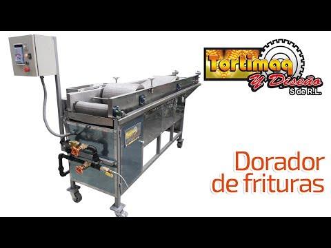 Equipo para dorar frituras - Dorador de frituras - Máquina para frituras   tortimaq.com.mx