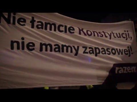 Protest RAZEM przed Pałacem Prezydenckim