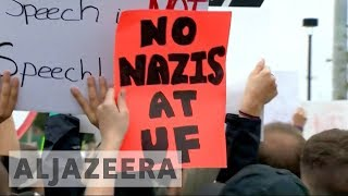 Florida: Anti-racists rally against Richard Spencer - ALJAZEERAENGLISH