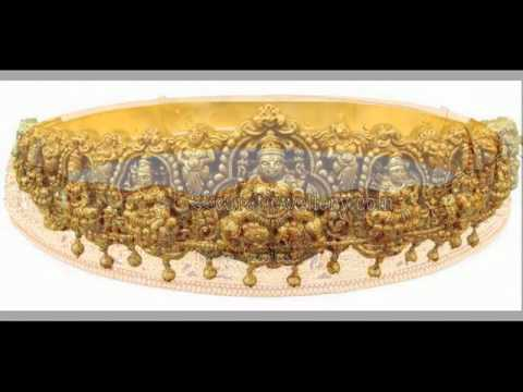 Latest Gold and Diamond vaddanam (oddiyanam) and Armlet (Ara Vanki) Designs