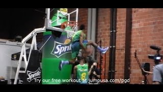 Insane Dunk Battle Between Kenny Dobbs & Sir Isaac
