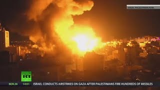 Israel hits 150 targets in Gaza after Palestinian missile onslaught - RUSSIATODAY