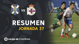Resumen de CD Tenerife vs RC Deportivo (1-1)