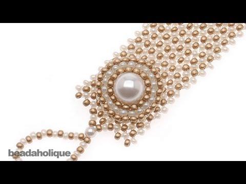 How to do Circular Brick Stitch Bead Weaving around a Bead