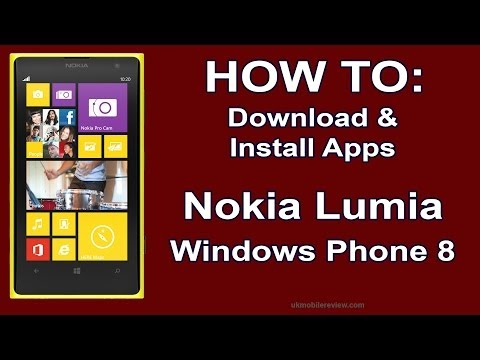 How to: Download & Install Apps Nokia Lumia Windows Phone